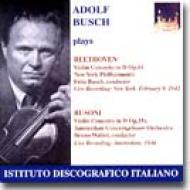 Violin Concerto: A.busch, F.busch / Nyp, Walter / Aco