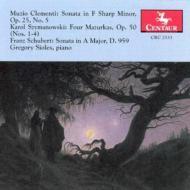 Piano Sonata.20 / .op25-5 / 4 Mazurkas: Sioles(P)