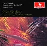 String Quartet.4, 5, String Quintet: Stanford Q Borromeo Q Lincoln Center