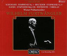 ブルックナー:交響曲第4番《ロマンティック》、シューマン:同第1番《春》、ハイドン:同第88番、ベートーヴェン:序曲《コリオラン》 フルトヴェングラー/VPO(1951)