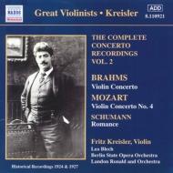 <クライスラー協奏曲録音全集2>ヴァイオリン協奏曲第4番/ロマンス/他 クライスラー/ロナルド/他
