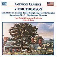 交響曲第2・3番/ピルグリムたちと開拓者たち/他 セダレス/ニュジーランド交響楽団