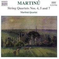 <弦楽四重奏曲全集3>第4番/第5番/第7番「室内協奏曲」 マルティヌー四重奏団