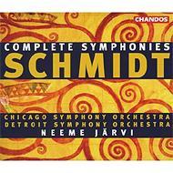 シュミット:交響曲全集 ネーメ・ヤルヴィ、シカゴ交響楽団、デトロイト交響楽団(4CD)