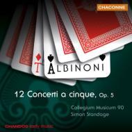 アルビノーニ:5声の協奏曲 Op.5 「全12曲」 スタンデイジ/コレギウム・ムジクム90