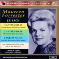 Cantatas.53, 54, 169, Etc / Arias: Forrester(A)janigro / Zagreb Ensemble