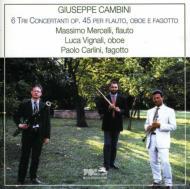 Trio Concertantes: Mercelli(Fl)vignali(Ob)carlini(Fg)