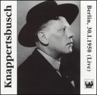 Sym.8 / 9: Knappertsbusch / Bpo ('50)+beethoven, Wagner