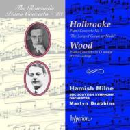 (ロマンティック・ピアノ協奏曲集 第23巻) ホールブルック、ウッド:ピアノ協奏曲 ミルン(p)/ブラビンズ