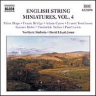 <イギリス弦楽小曲集4>ホープ/ブリッジ/ホルスト/ディーリアス/多作曲家 ロイド=ジョーンズ/ノーザン・シンフォニア