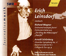 Orchestra Music From Ring & Parsifal / Chamber Sym.1: Leinsdorf / Swf.so
