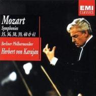 モーツァルト/Sym.35  36  38  39  40  41: Karajan / Bpo