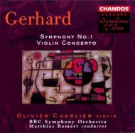 ロバート・ジェラード:交響曲第1番、ヴァイオリン協奏曲他 シャリエ(vn) バーメルト