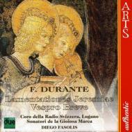 エレミヤの哀歌、ヴェスプロ・ブレーヴェ ファソリス&スイス・イタリア語放送合唱団、ソナトーリ・デラ・ジョイオーサ・マルカ