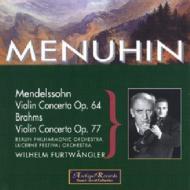 Violin Concertos: Menuhin, Furtwangler / Bpo, Lucerne Festival.o('52, '49)
