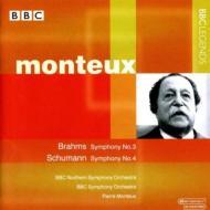 ブラームス:交響曲第3番、シューマン:交響曲第4番、他 モントゥー&BBCノーザン響、BBC響