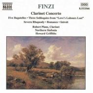 クラリネット協奏曲Op.31/5つのバガテルOp.23a/他 グリフィス/ノーザン・シンフォニア/プレイン