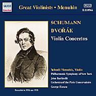 <ヴァイオリン協奏曲>シューマン/ドヴォルザーク メニューイン/バルビローリ/ニューヨーク・フィル/他