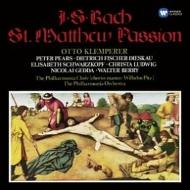 Matthaus-Passion : Klemperer / Philharmonia, F-Dieskau, Schwarzkopf, etc (3CD)