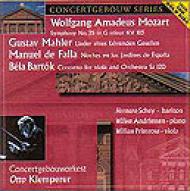 Sym.25 / Viola Concerto: Klemperer / Concertgeouw.o +falla, Mahler