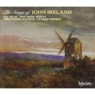 アイアランド:歌曲集「宗教的歌曲と世俗的歌曲」、「放浪者の歌」 ミルン(S)他