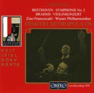 Violin Concerto / Sym.2: Francescatti(Vn)mitropoulos / Vpo Salzburg