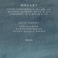 ピアノ協奏曲第21、23、27番、交響曲第40番 キース・ジャレット(p)、デニス・ラッセル・デイヴィス&シュトゥットガルト室内管