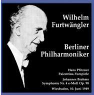 Sym.4 / 3 Preludes From Palestrina: Furtwangler / Bpo('49)