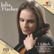 バッハ(1685-1750)/Sonatas & Partitas For Solo Violin: J.fischer (Hyb)