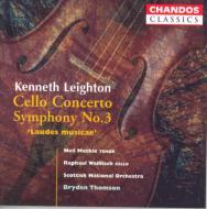 ケネス・レイトン:チェロ協奏曲、交響曲第3番/ウォルフィッシュ(vc)、トムソン(指揮)、スコッティシュ・ナショナル響