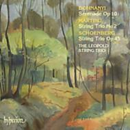ドホナーニ、シェーンベルク、マルティヌー:弦楽三重奏曲集/レオポルド弦楽三重奏団
