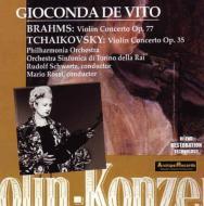 Violin Concerto: De Vito(Vn)Schwartz / Po Rossi / Turin Rai So