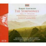 シューマン、ロベルト(1810-1856)/Comp. symphonies Etc: Marriner / Stuttgart Rso +piano Concerto Piano Works