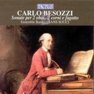ベゾッツィ:2つのオーボエ、2つのホルン、ファゴットのためのソナタ集/アンサンブル・バロッコ・サンス・スーシ