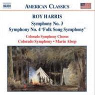 ハリス:交響曲第3番、第4番『民謡交響曲』 オルソップ&コロラド交響楽団