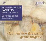 バッハ(1685-1750)/Cantata.55 56 98 180(Vol.1): S.kuijken / La Petite Bande Etc (Hyb)