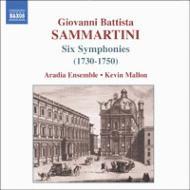 サンマルティーニ:6つの交響曲(1730-1750) マロン&アレイディア・アンサンブル