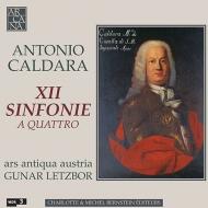 カルダーラ(1670-1736)/12 Sinfonie A 4: Letzbor(Vn) / Ars Antiqua Austria