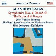 交響曲第4番/同第20番/第53番/荒地への帰還と復興、他 ブライオン/英国王立スコットランド音楽院ウィンド管弦楽団