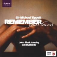 Remember Your Lovers: Ainsley(T)Burnside(P)+britten, Purcell, Humfrey