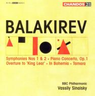 バラーキレフ:交響曲集/シェリー(ピアノ)、シナイスキー(指揮)、BBCフィル