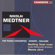 メトネル:ピアノ協奏曲第1番〜第3番、ソナタ・バラード/トーザー(p)、ヤルヴィ&ロンドン・フィル