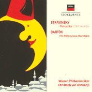 ストラヴィンスキー:『ペトルーシュカ』、バルトーク:『中国の不思議な役人』全曲 ドホナーニ&ウィーン・フィル