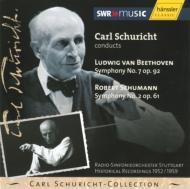 ベートーヴェン:交響曲第7番、シューマン:同第2番 シューリヒト&シュトゥットガルト放送響