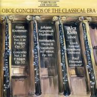 Oboe Concerto.1, 2: A.klein(Ob), Freeman / Czech National.so +hummel