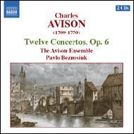 7つのパートのための12の合奏協奏曲Op.6 エイヴィソン・アンサンブル/ベズノシウク