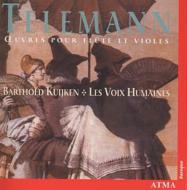 テレマン(1681-1767)/Works For Flute & Gamba: B.kuijken(Fl) E.milnes(Cemb) Les Voix Humaines