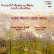 Cello Sonatas-barber, Britten, Carter, Bridge: Bertsch(Vc)m.weber(P)