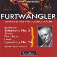 Sym.5 / .94: Furtwangler / Vpo (Stockholm)