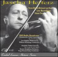 チャイコフスキー:ヴァイオリン協奏曲、プロコフィエフ:ヴァイオリン協奏曲第2番 ハイフェッツ、スタインバーグ&ロス・フィル、クーセヴィツキー&ボストン響